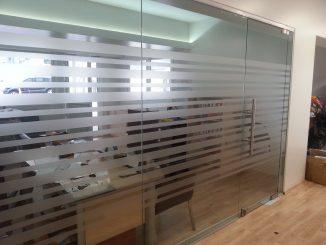 cam bölme uygulaması, ofis bölme işlemleri, cam ofis bölme